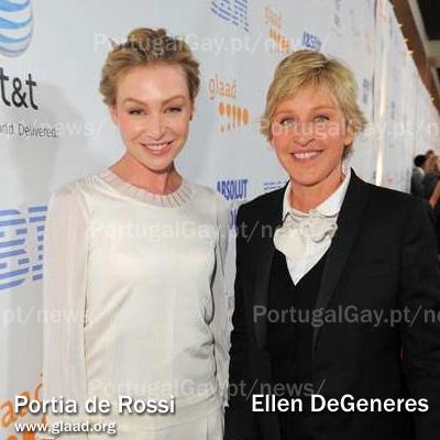 EUA: Ellen DeGeneres e Portia de Rossi casaram-se