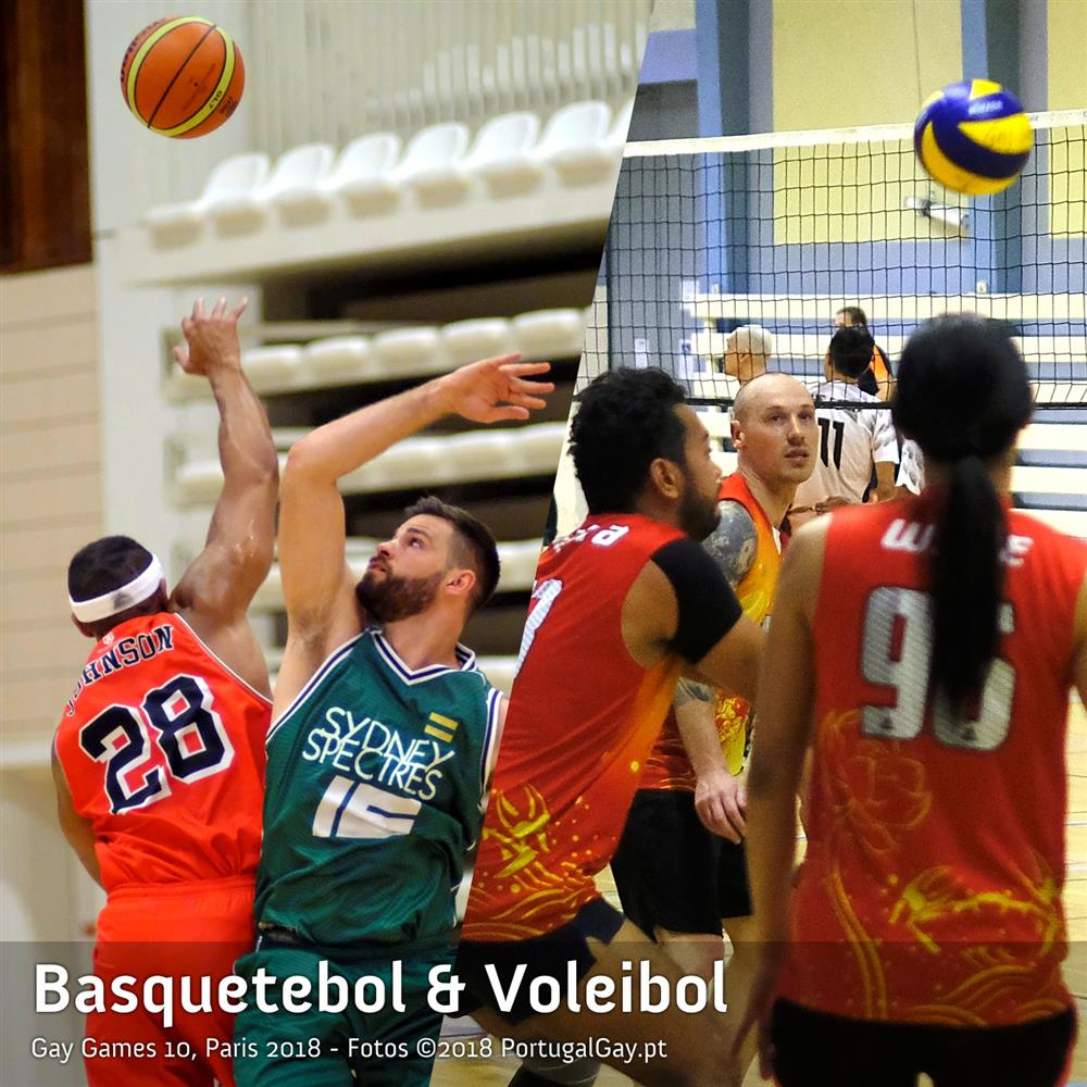 DESPORTO: Voleibol e Basquetebol nos Gay Games 10