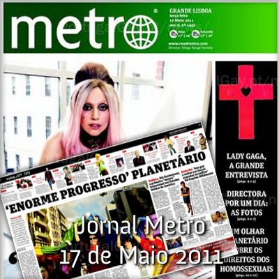 PORTUGAL: Jornal Metro de hoje tem como editora especial Lady Gaga