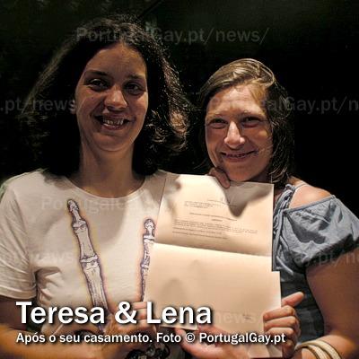 PORTUGAL: Helena casou com Teresa hoje, em Lisboa