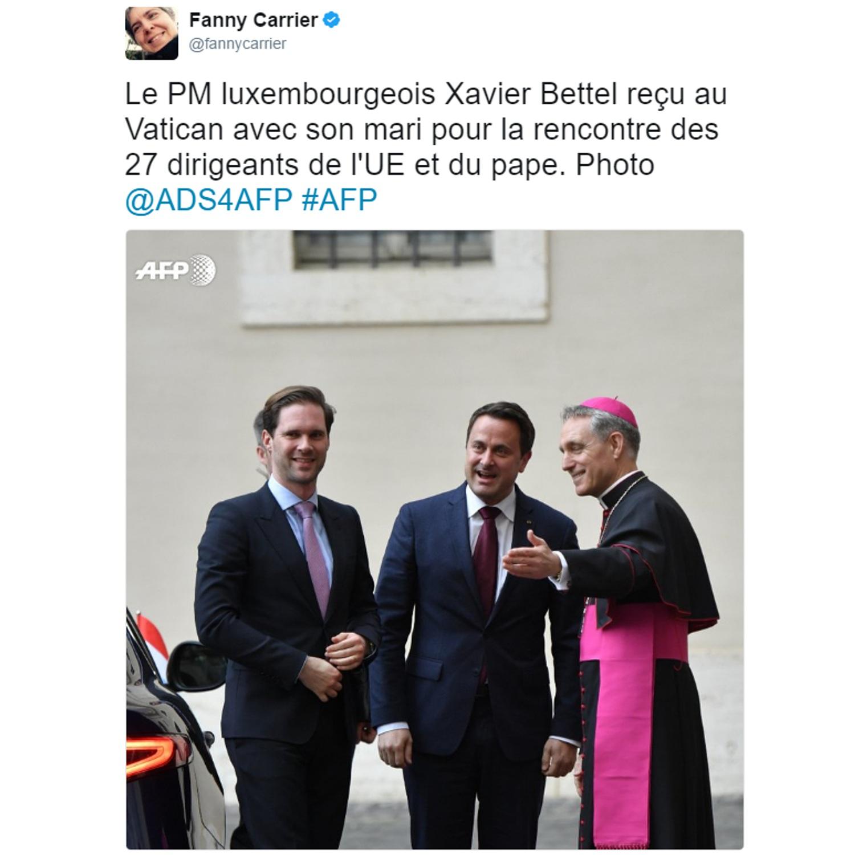 SANTA SÉ: Primeiro-ministro e marido em visita oficial